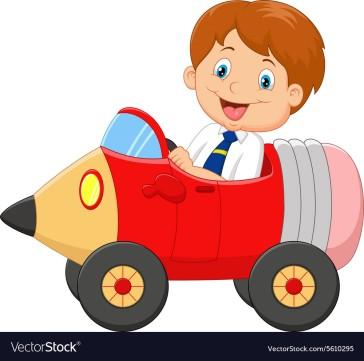 cartoon-boy-driving-a-pencil-car-vector-5610295