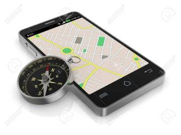 17954295-smartphone-with-gps-map-and-a-compass-3d-render-